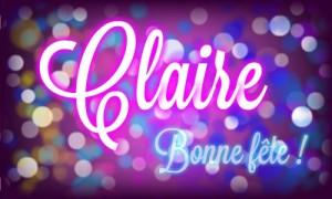 Bonne fête Claire