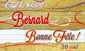 Bonne fête Bernard