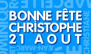 Bonne fête Christophe