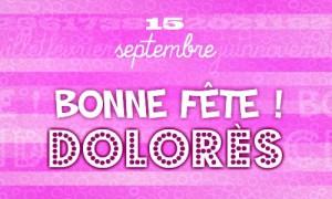 Dolorès - 15 septembre