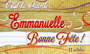 Emmanuelle - 11 octobre