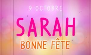 Sarah - 9 octobre