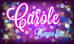 Carole - 4 novembre