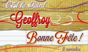 Geoffroy - 8 novembre