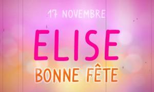 Elise - 17 novembre