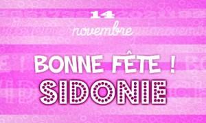 Sidonie - 14 novembre