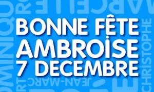 Ambroise - 7 décembre