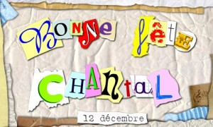 Chantal - 12 décembre