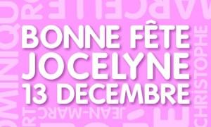 Jocelyne - 13 décembre