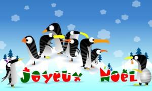 La famille Pingouin fête Noël
