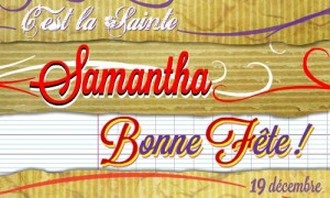 Samantha - 19 décembre