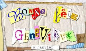 Geneviève - 3 janvier