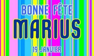 Bonne fête Marius