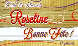 Bonne fête Roseline