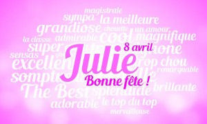 Julie - 8 avril