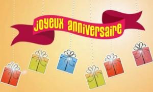 Cadeaux, feux d'artifice et bonheur pour ton anniversaire