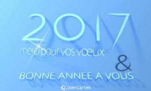 Merci pour vos voeux et bonne année 2017