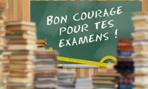 Bon courage pour tes examens