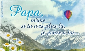 Papa, je pense à toi