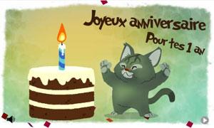 Bon anniversaire pour tes 1 an