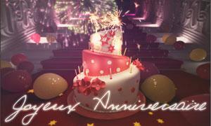 Gâteau d'anniversaire 3D