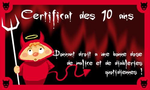 Très Carte Anniversaire 10 ans - CyberCartes.com WQ61