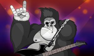 Le gorille rockeur